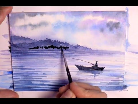Speed Painting Watercolor Painting How To Paint A Waterscape