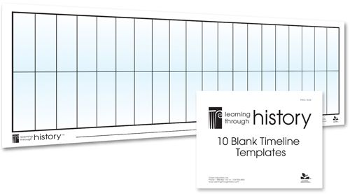 blank timeline templates 10 pack homeschool history pinterest see best ideas about. Black Bedroom Furniture Sets. Home Design Ideas