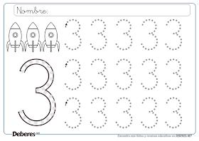 Trabajando En Educacion Infantil Otras 10 Fichas Del Numero 3 Figuras Geometricas Para Preescolar Fichas Actividades De Lectura Preescolar