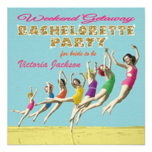 Bachelorette Weekend Getaway Party Invitations Bachelorette