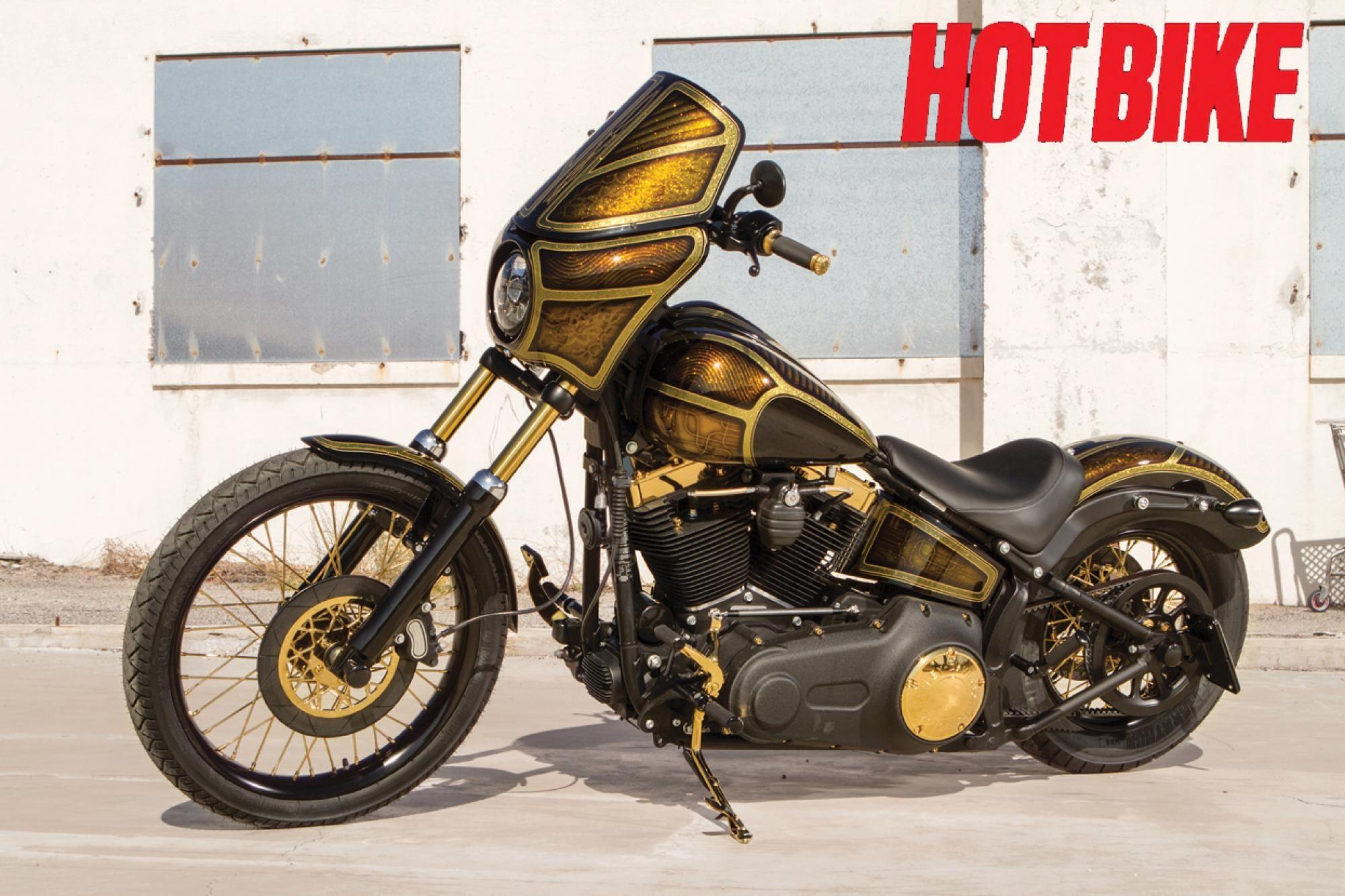 Gold Fever Harley Blackline Harley Harley Wheels Hot Bikes