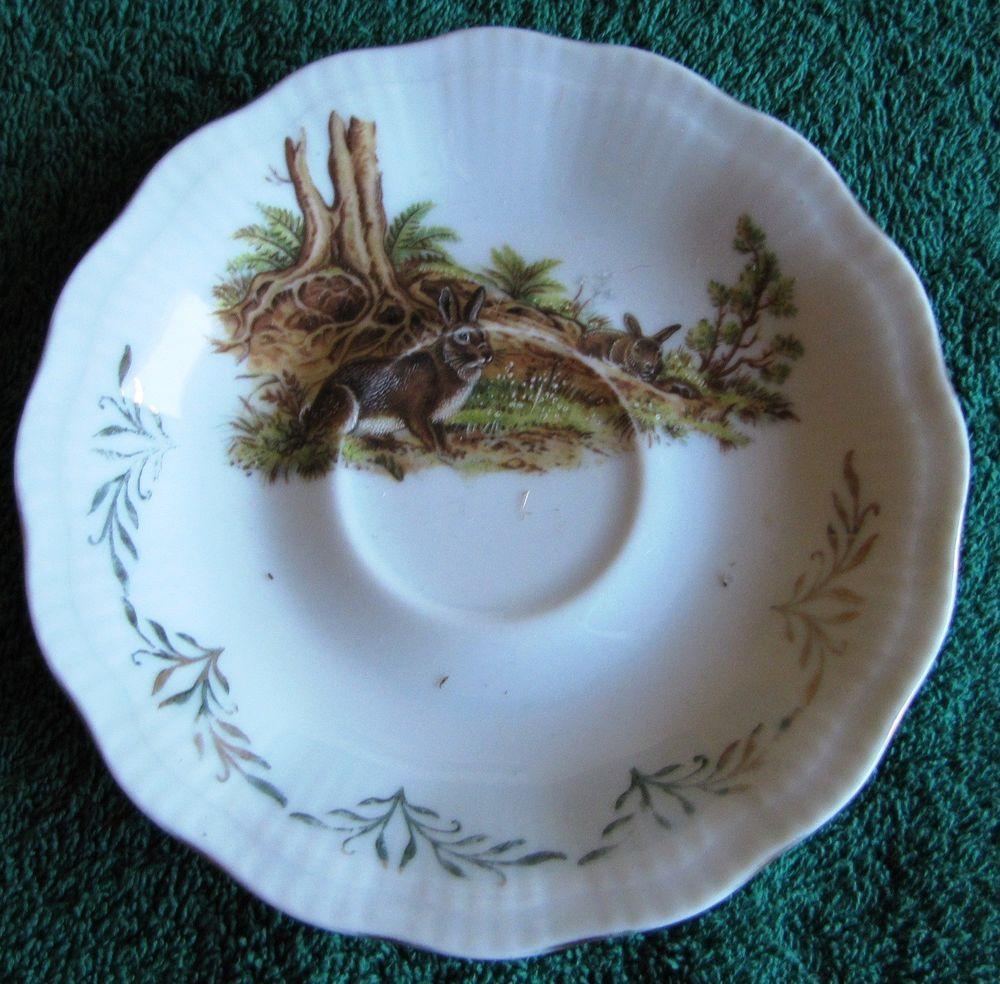 ANTIQUE Factory K u0026 M hand made Czech republic Saucer plate Hare Painted #KM & ANTIQUE Factory K u0026 M hand made Czech republic Saucer plate Hare ...
