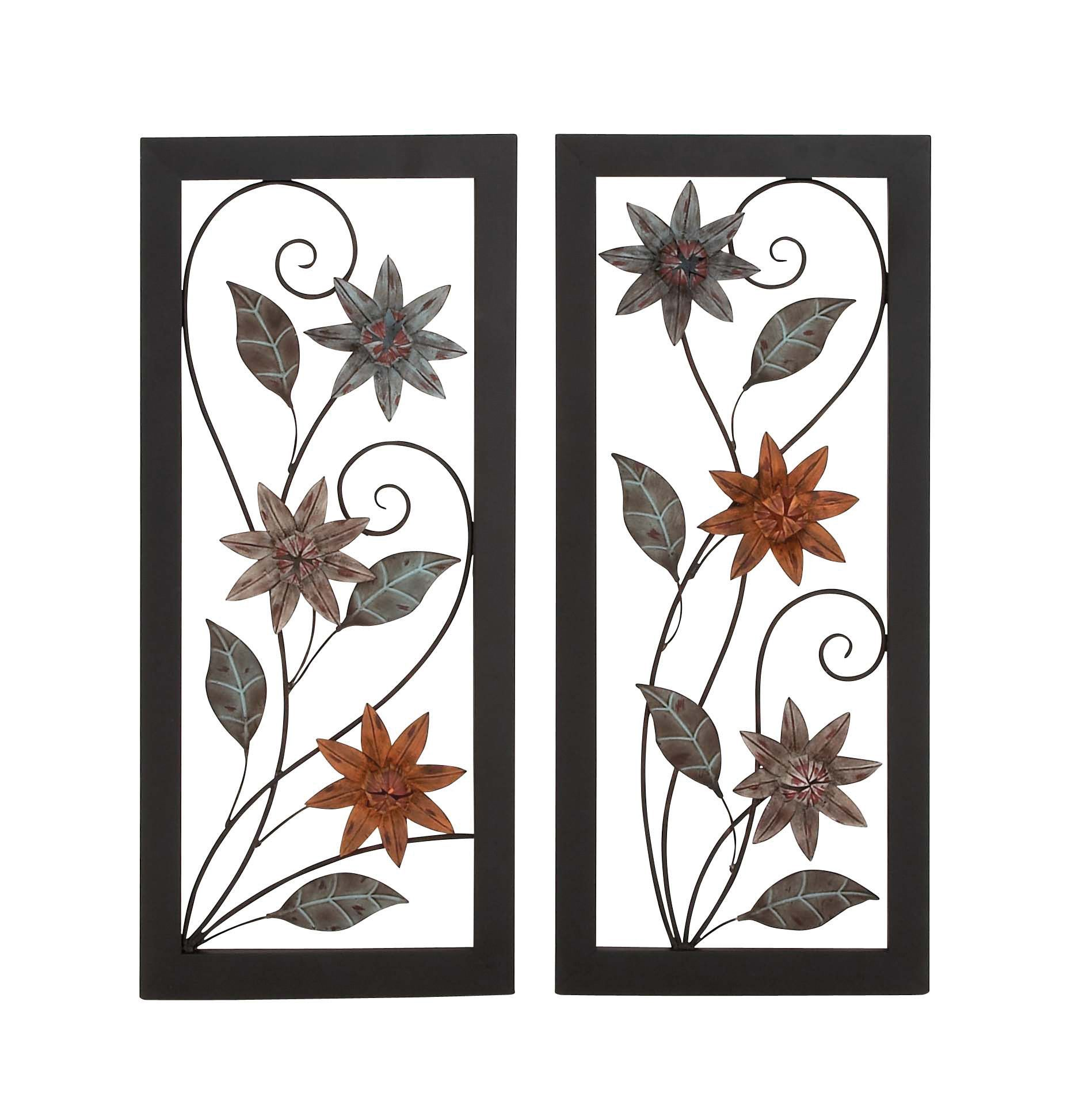 Gorgeous And Spectacular Metal Wall Dƒcor Set Of Two Assorted With
