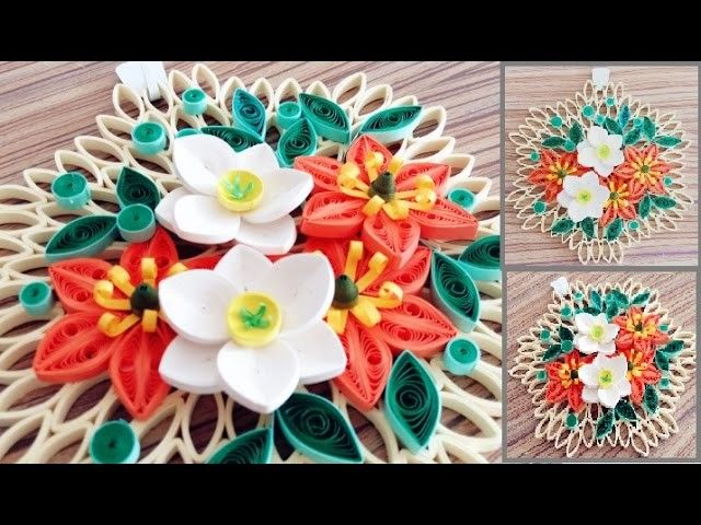 paper quilling flower for wall hanging decoration 19 diy wall decorationpaper flower art