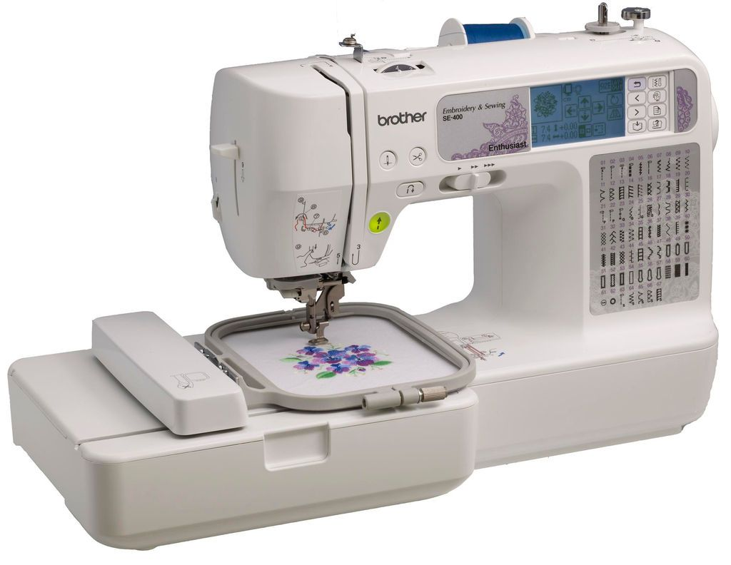 Brother SE400 Computerized Sewing & Embroidery Machine