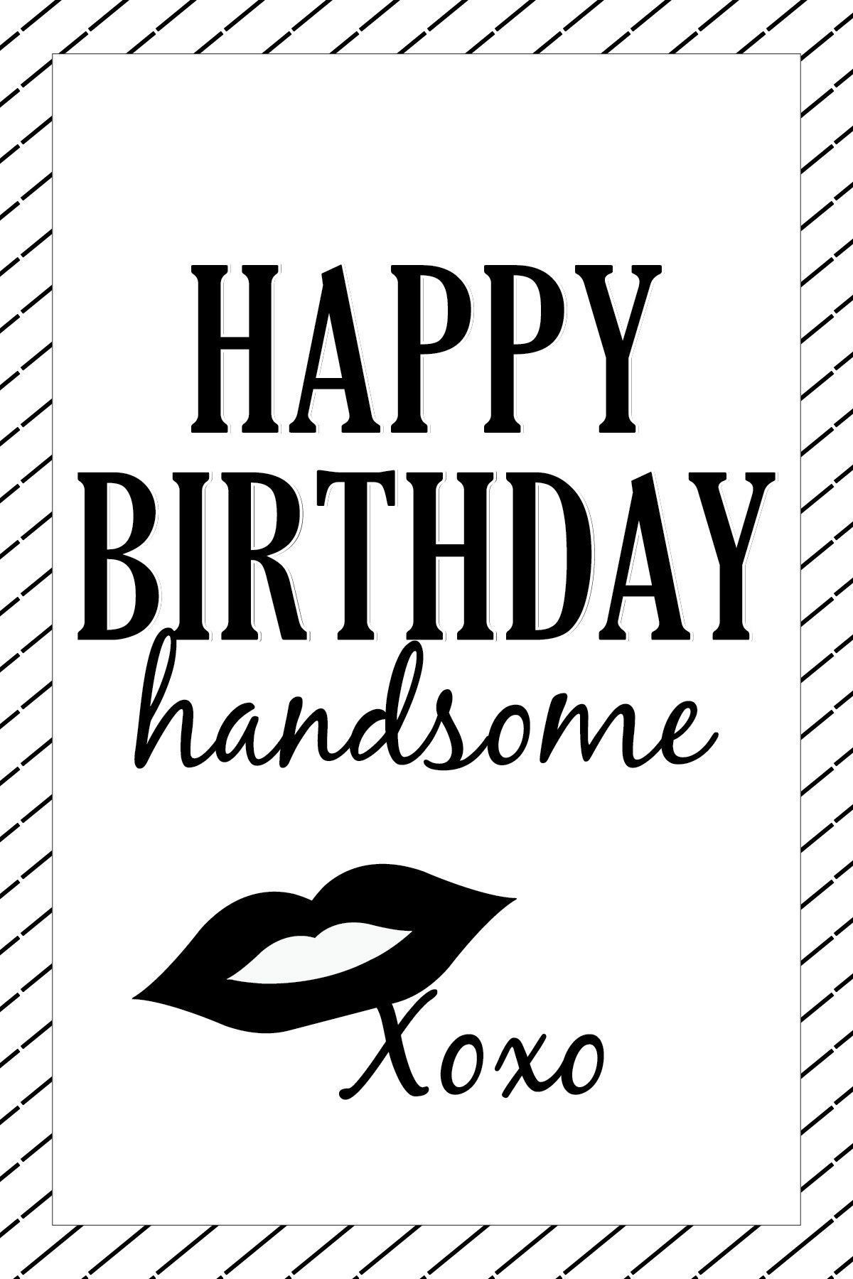 Happy Birthday Handsome Card Design Happy birthday