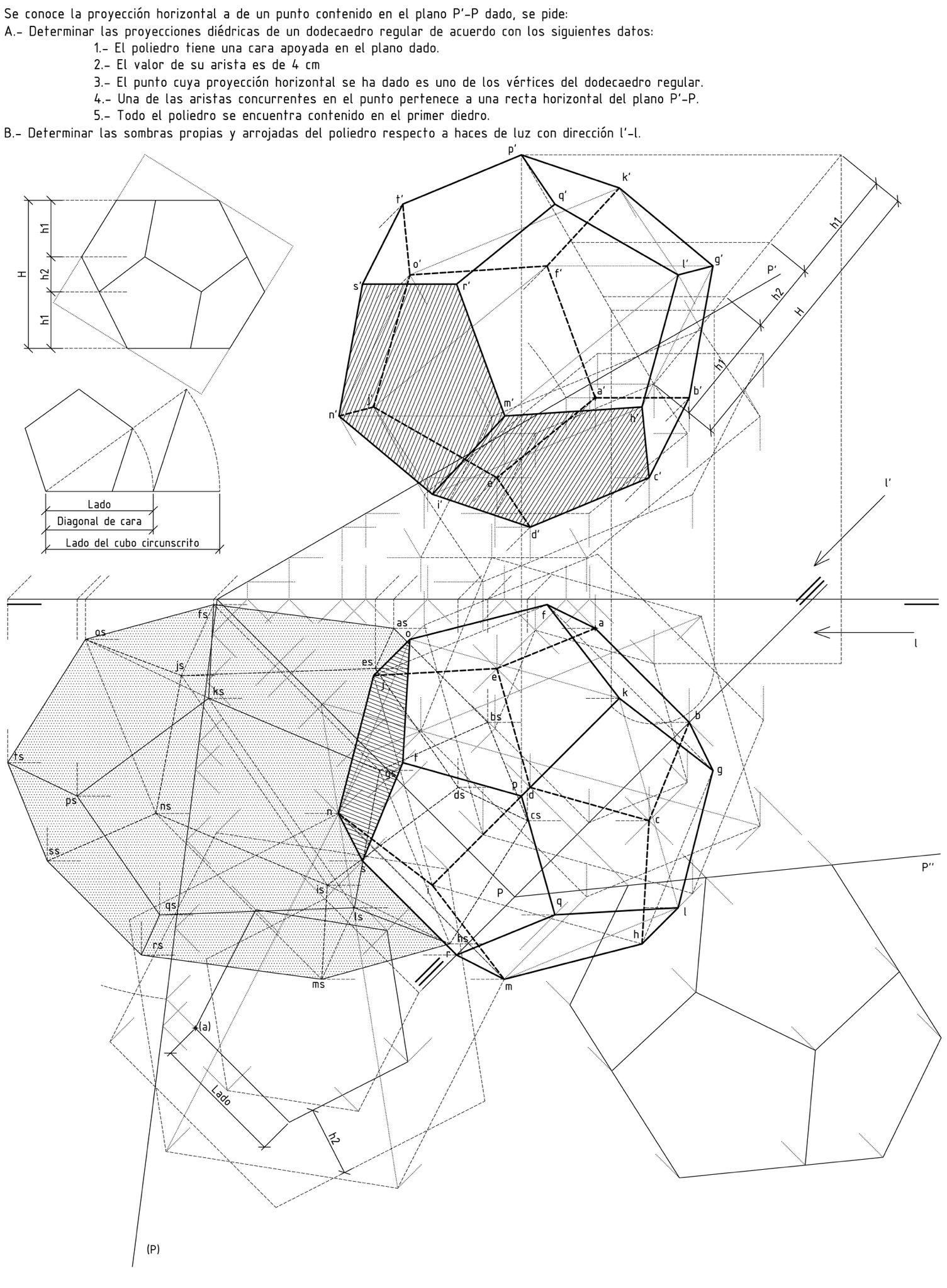 Geometria Descriptiva Geometria Descriptiva Geometria Dibujo Tecnico Ejercicios