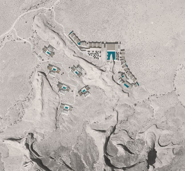 Amangiri wendell burnette architects resort plan for Design hotel utah