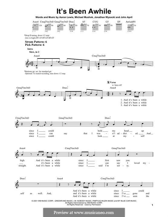 Its Been Awhile Staind For Guitar With Tab By Jonathan Wysocki