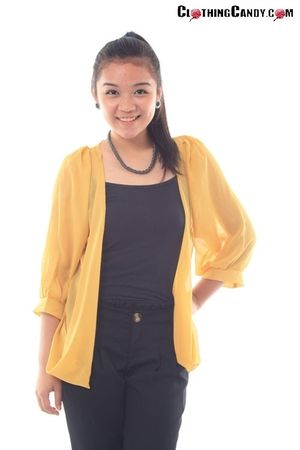 mustard longsleeves outerwear by @ClothingCandy