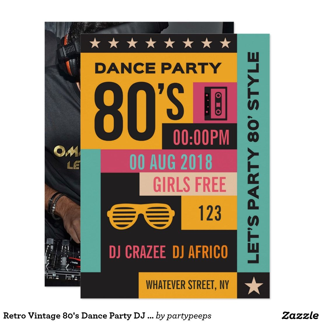 Liquid Blue DJ Party Invitations | Zazzle - Invitations | Pinterest ...