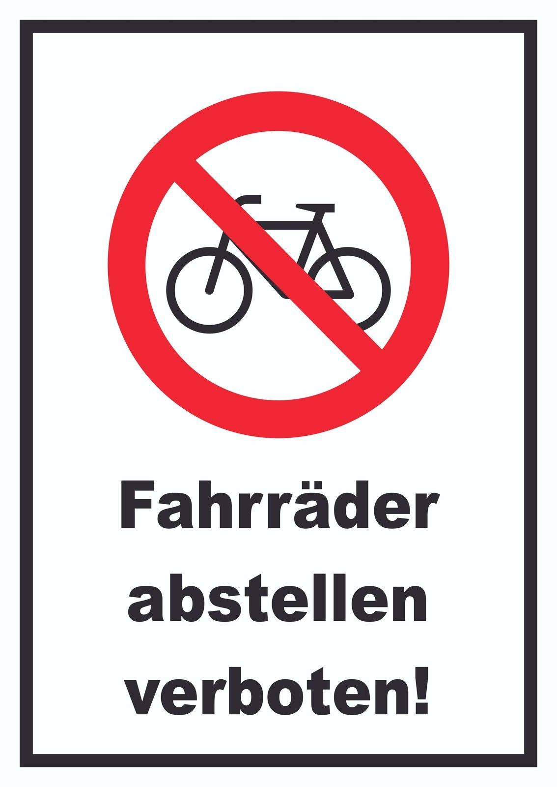 verbotsschild fahrr der abstellen verboten verbot schild fahrrad handel kfz boot und. Black Bedroom Furniture Sets. Home Design Ideas