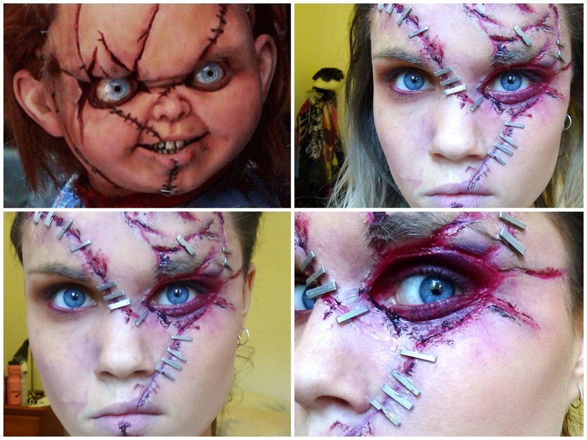 Chucky halloween makeup tutorial halloween pinterest chucky chucky halloween makeup tutorial baditri Gallery