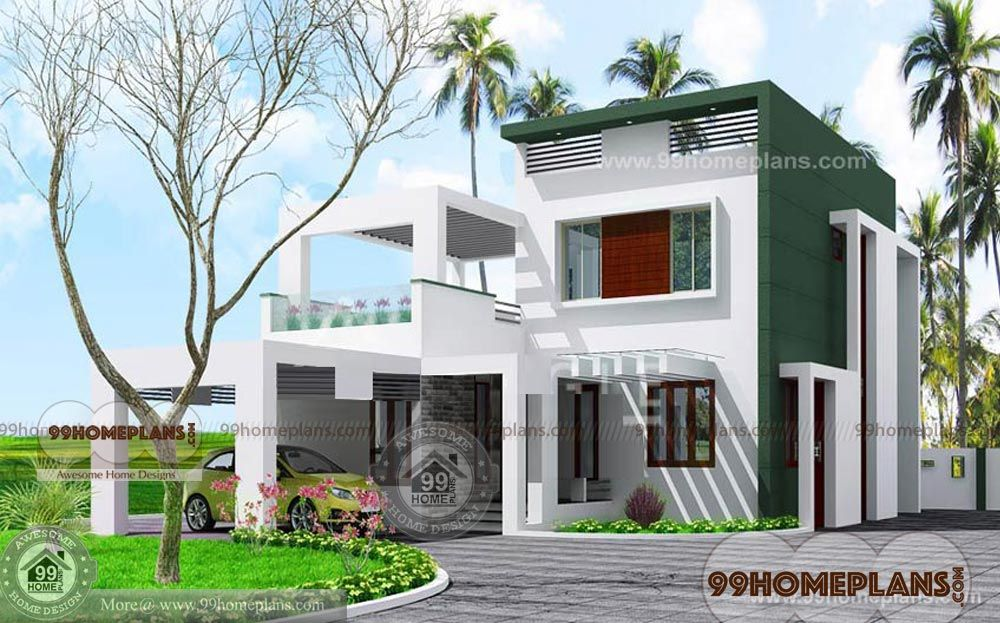 Box Type House Front Elevation Kerala House Design House Plans Kerala Houses