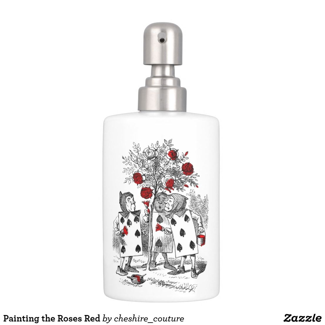 Painting the Roses Red Soap Dispenser & Toothbrush Holder | Home ...
