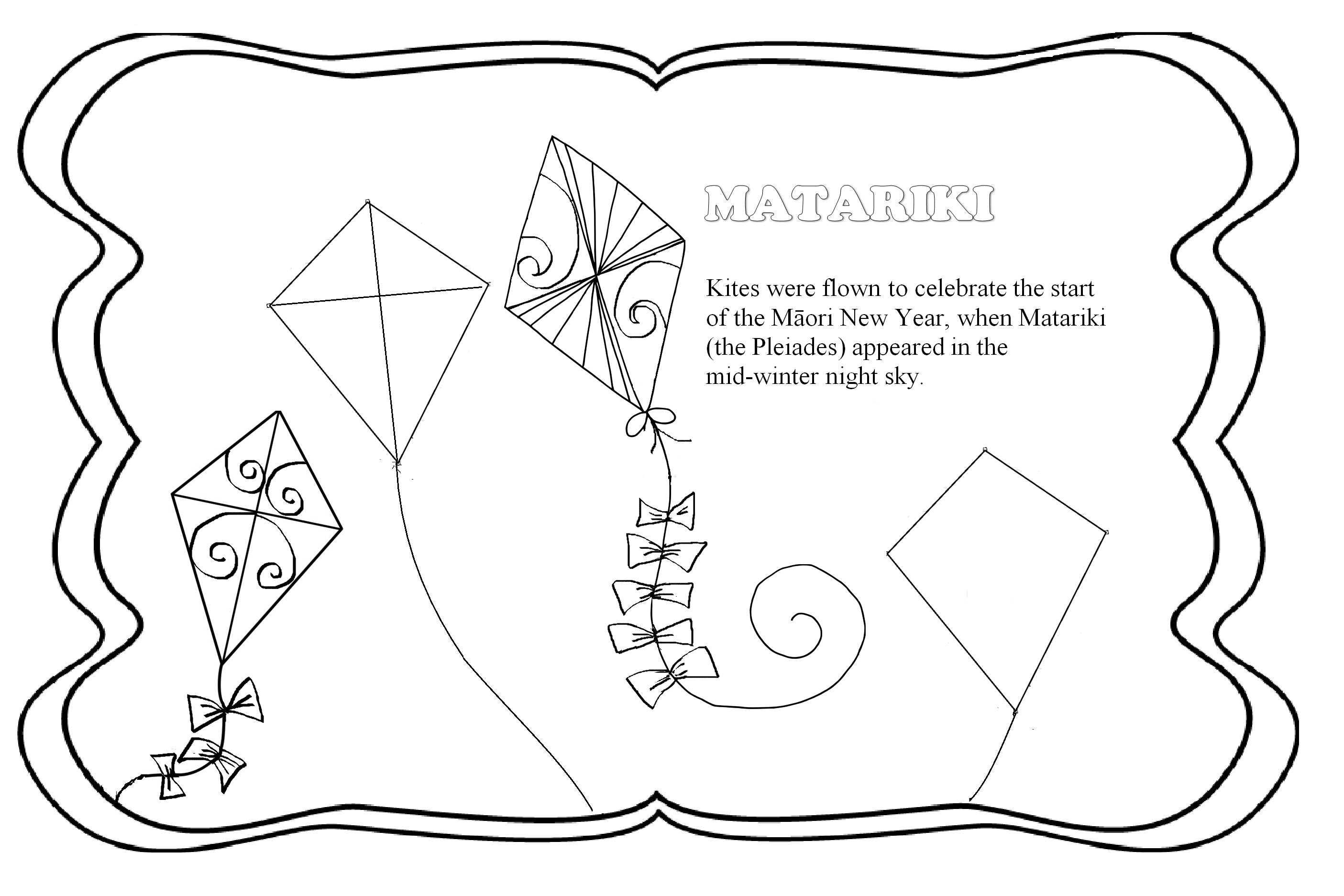 Matariki Colouring With Images