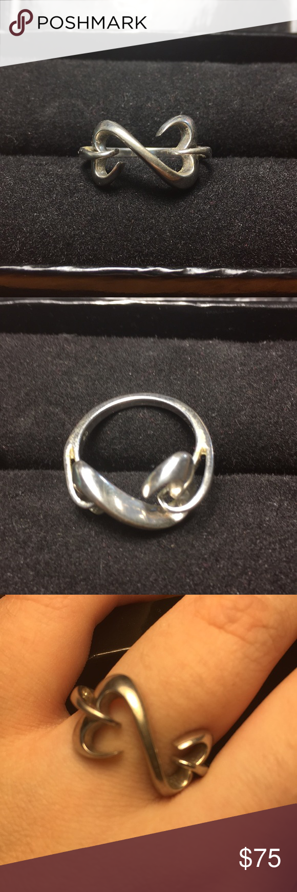 925 Silver Infinity Heart Ring Silver Infinity Infinity Heart Silver