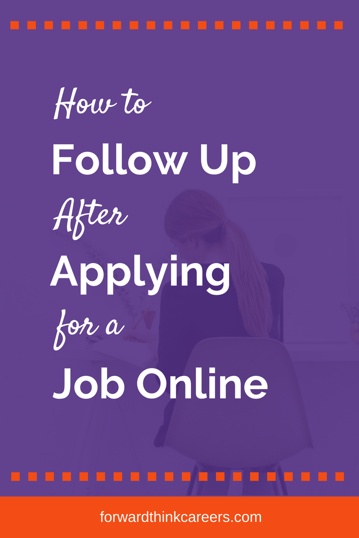 How To Follow Up After Applying For A Job Online Resume Tips