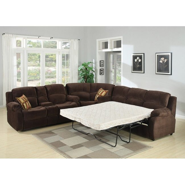 Tracey Chocolate Sleeper Sectional | Products | Sectional ...
