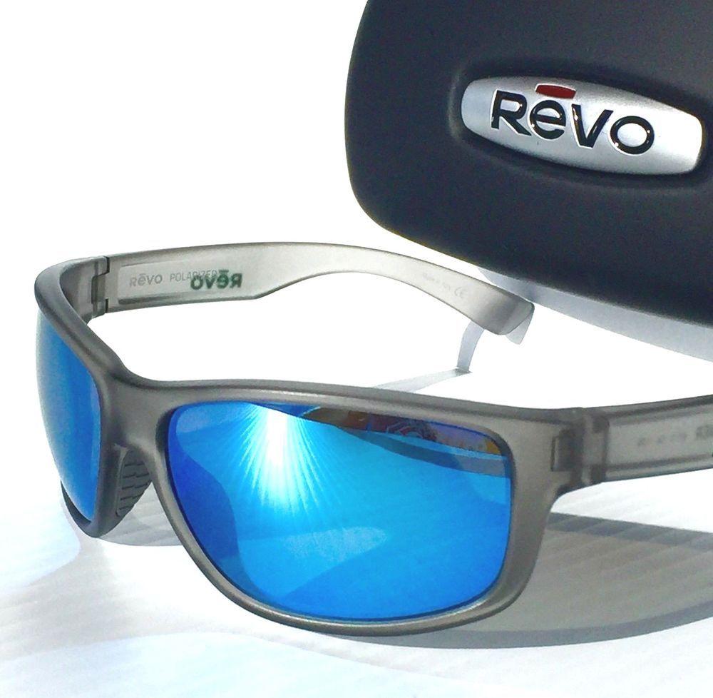 a6b9d61494 REVO Baseliner Matte GREY POLARIZED Blue Water ANGLER Sunglass 1006 00 BL  (eBay Link)
