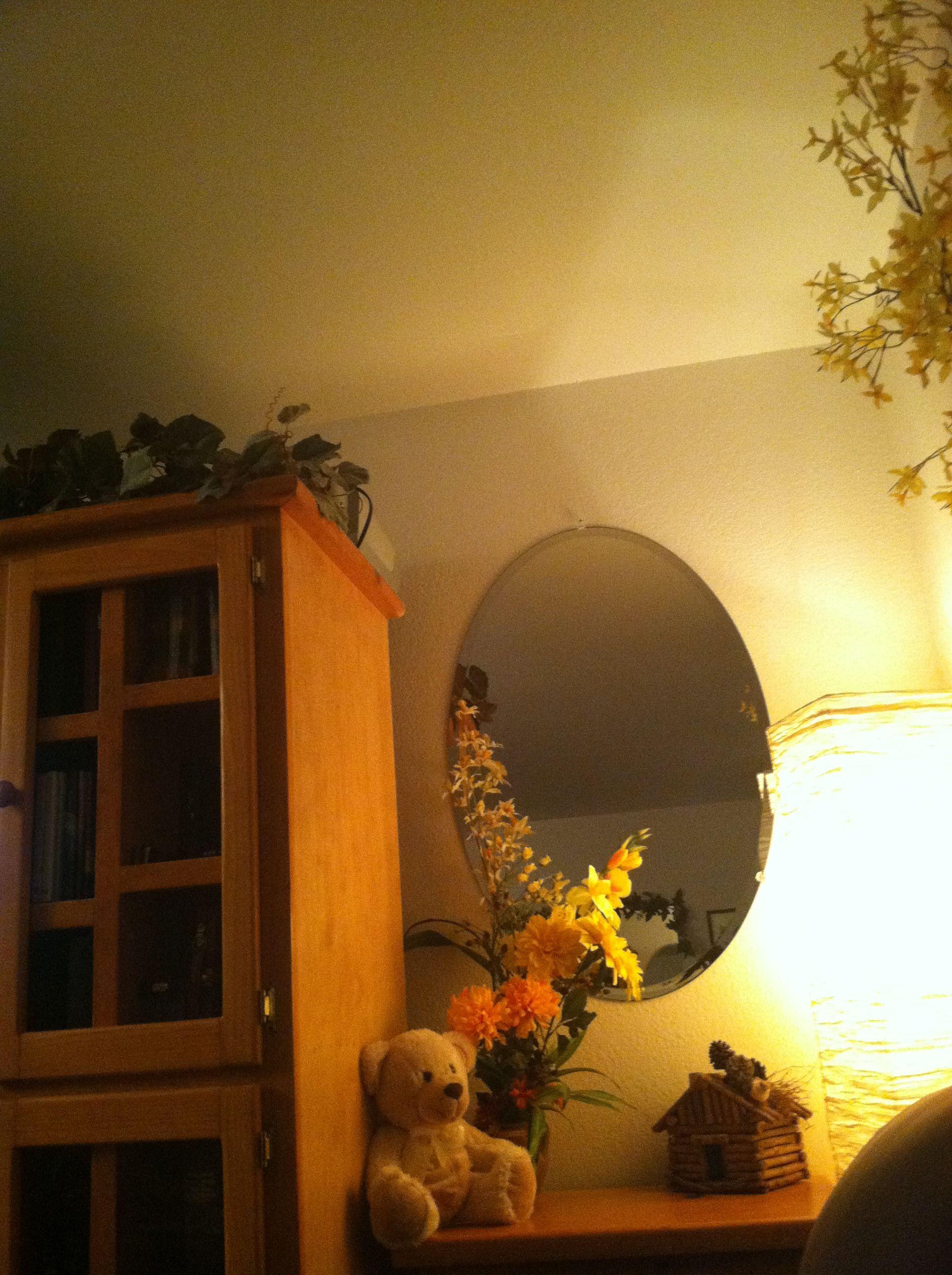 A nice sweet corner, flowers & our baby bear. :),