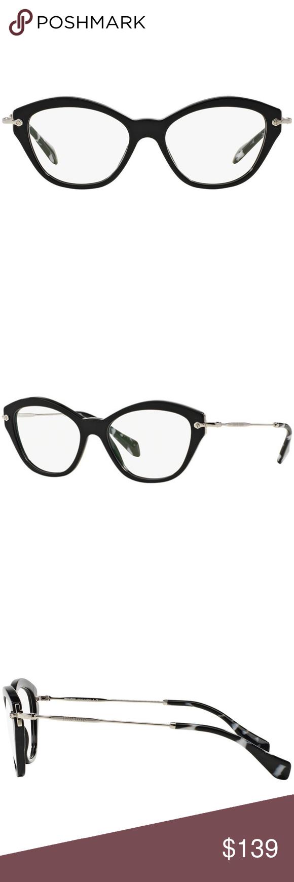 6c1b04f78c93 Miu Miu Sunglasses Black w Demo Lens Miu Miu Cat Eye Style Eyeglasses Women  Having