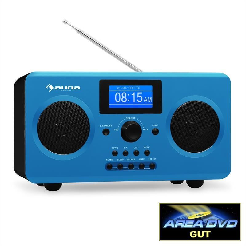 new wifi internet radio stereo sound system blue mp3 speaker digital alarm clock digital alarm. Black Bedroom Furniture Sets. Home Design Ideas