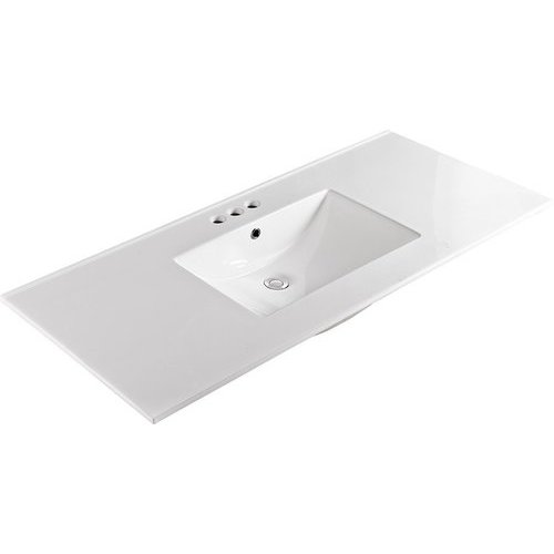 Bellaterra 49 Inch Single Sink Ceramic Vanity Top with 8 ...