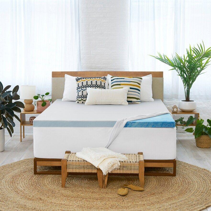Serta 3 Inch So Clean Memory Foam Mattress Topper White King In 2020 Foam Mattress Bed Frame Memory Foam