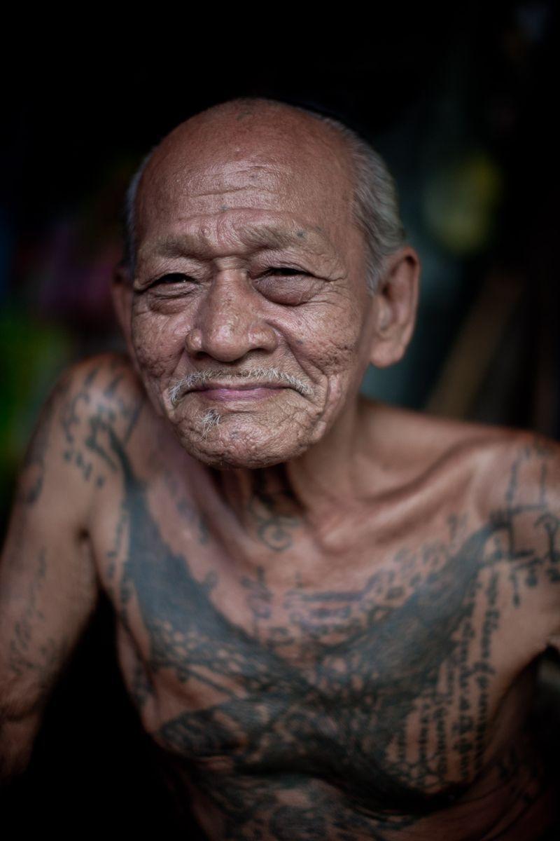 The Old Man Klong Toey Slum Bangkok Old Tattooed People People Of The World Human