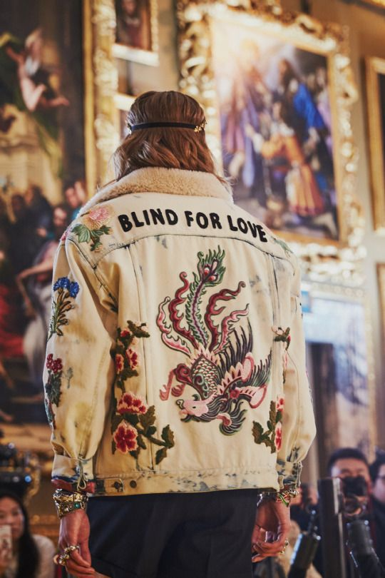006742ee3 Blind For Love, a phrase first introduced by creative director Alessandro  Michele in French ('L'Aveugle Par Amour') for his first Gucci Cruise  collection ...