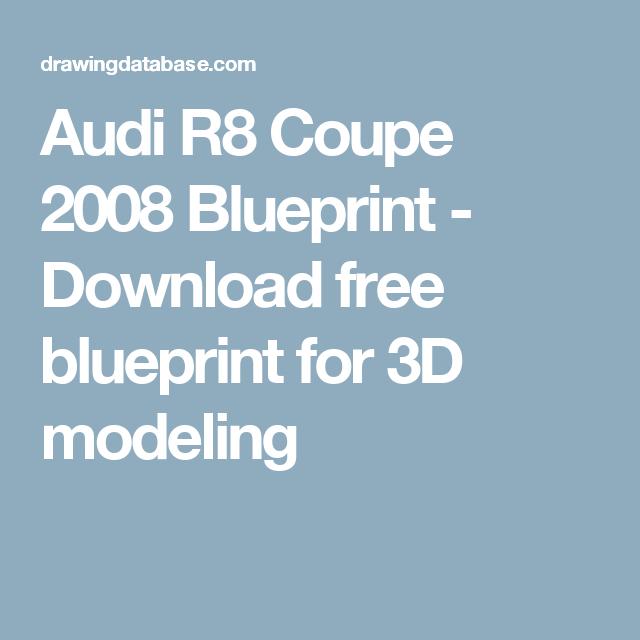 Audi R8 Coupe 2008 Blueprint