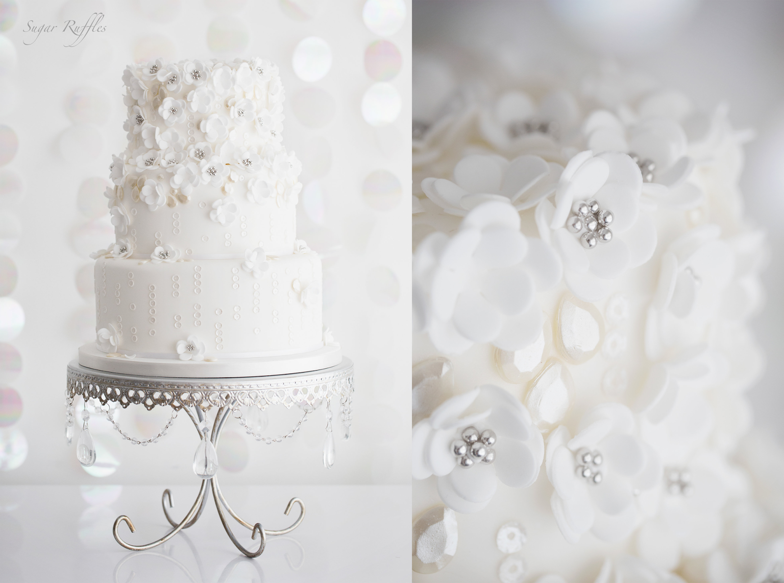 Chandelier Loopy Cake Plates (set of 3) | Cake, Wedding and Centerpieces