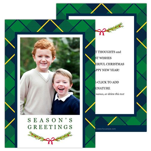 Plaid Greetings Create your own Holiday Christmas cards using