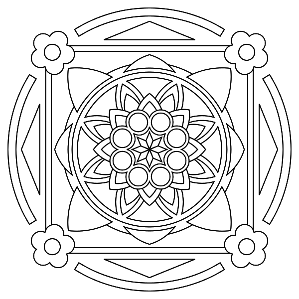 Free printable mandala coloring pages @lilfairiedragon for the ...