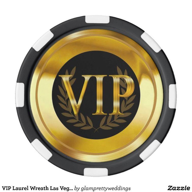 Vip Laurel Wreath Las Vegas Gold Black Set Of Poker Chips Zazzle Com Poker Chips Custom Poker Chips Poker Chips Set
