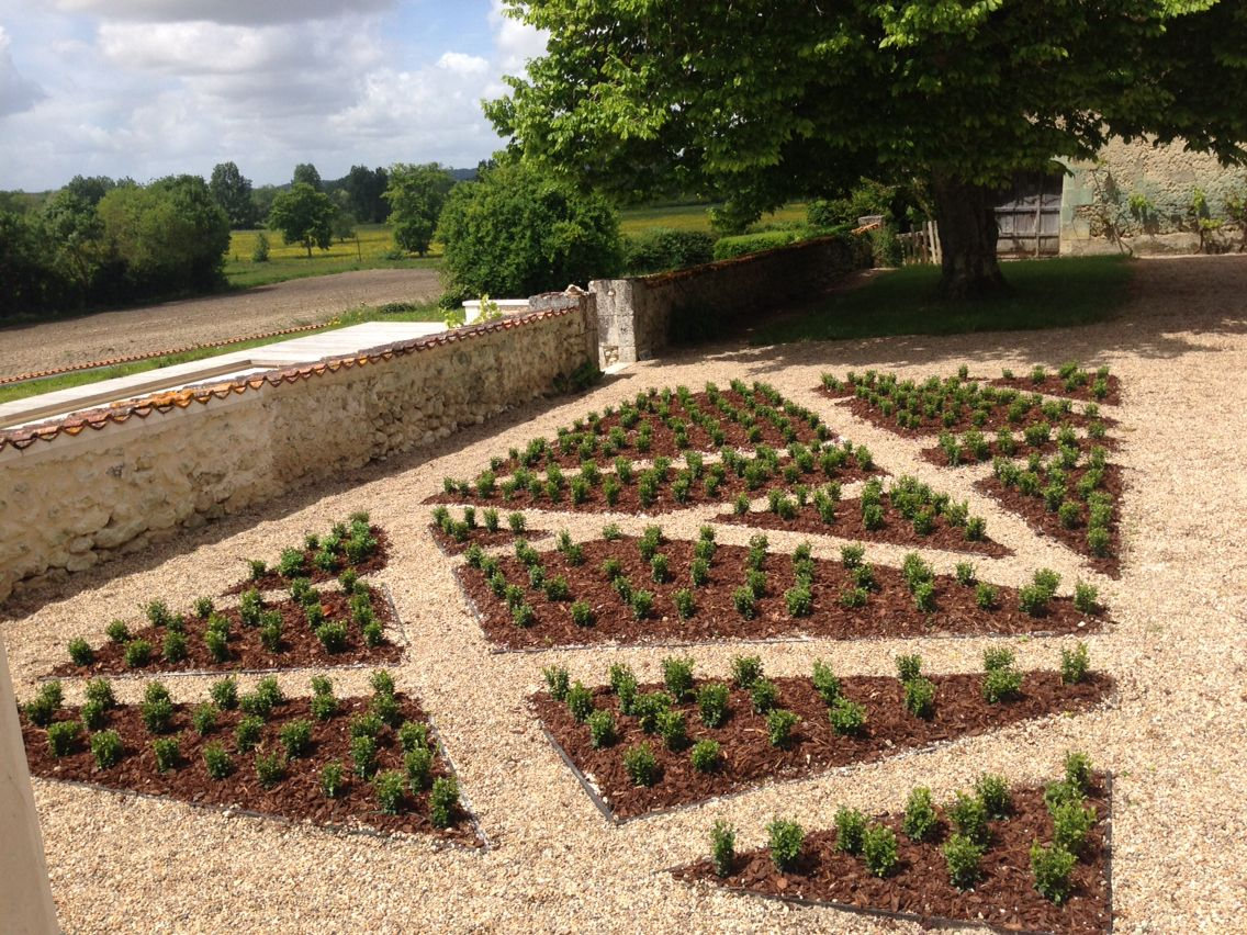 Buxus parterre - we could have a Saltire! | Garden for Bechade ...