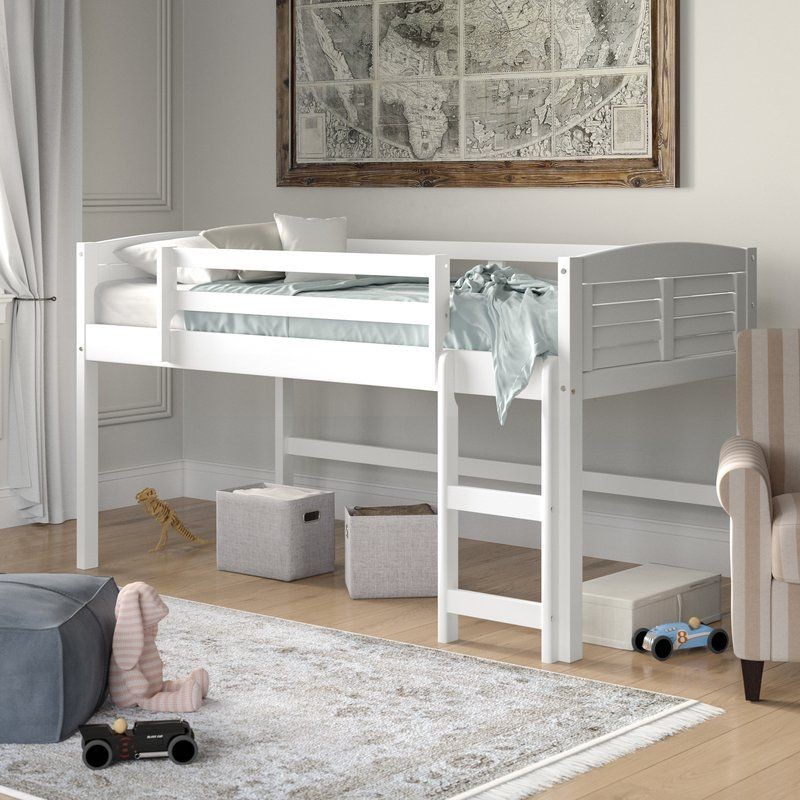 Manervia Twin Low Loft Bed in 2019 Nursery 1 Low loft