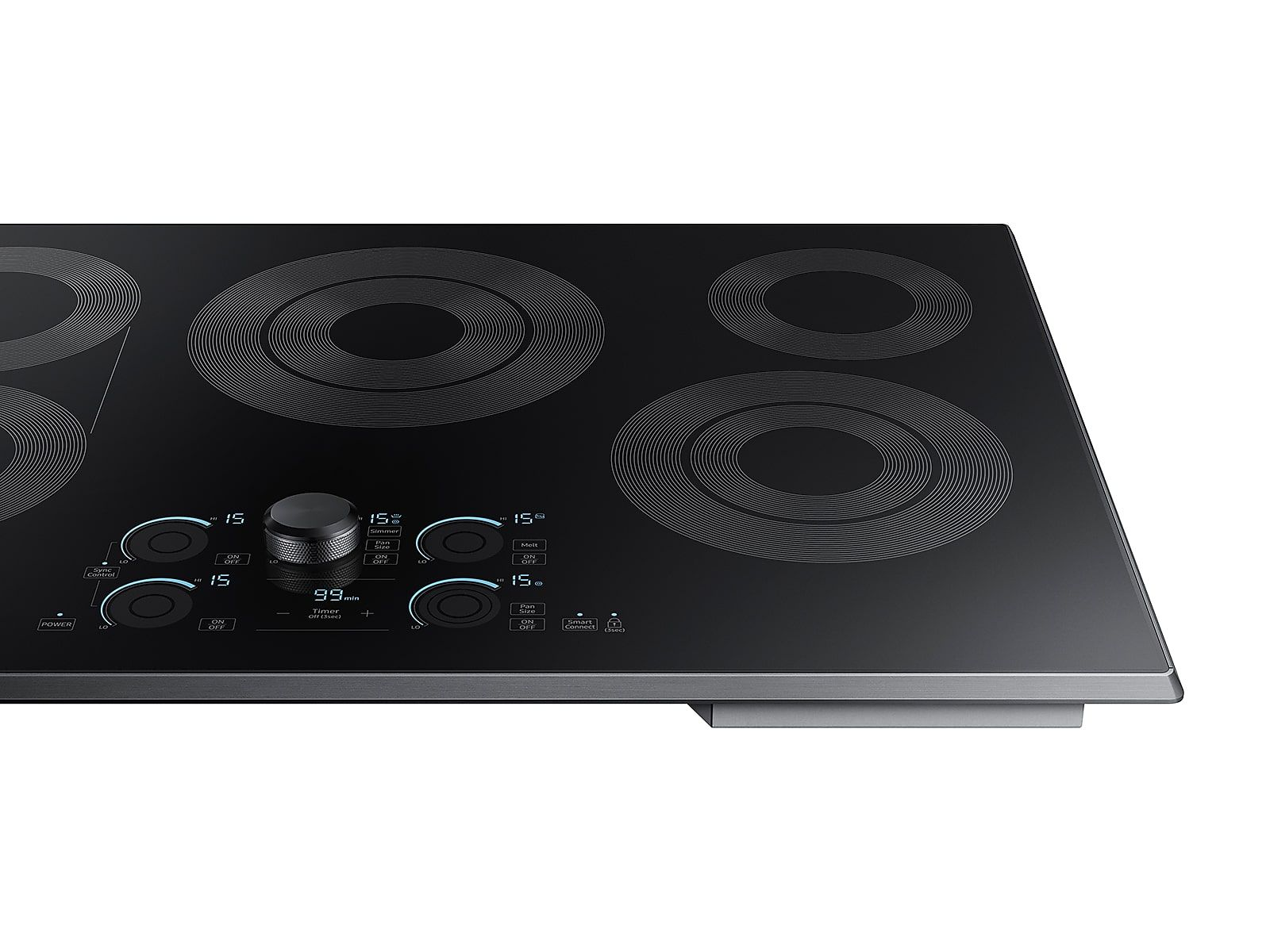 30 Inch Electric Cooktop With Sync Elements In Black Stainless Steel Cooktop Nz30k7570rg Aa Samsung Us In 2020 Electric Cooktop Samsung Stoves Stainless Steel Cooktop