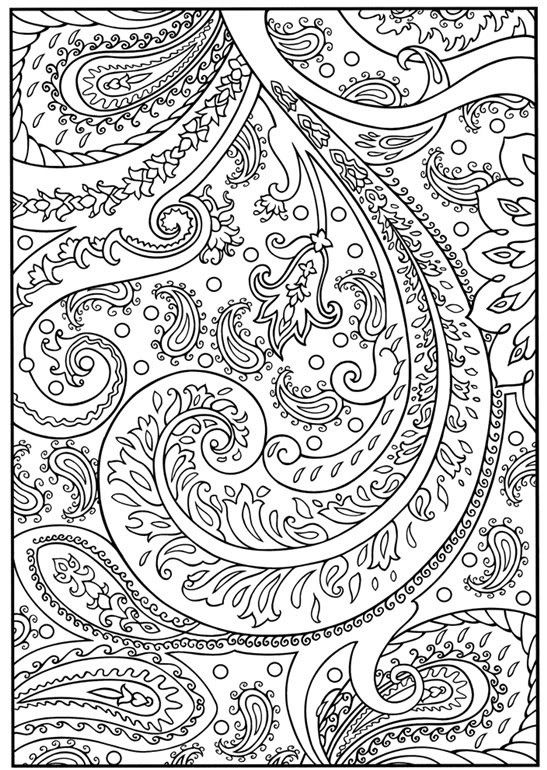 Floral Flourish and Embellishments Adult Coloring Printable | The ...