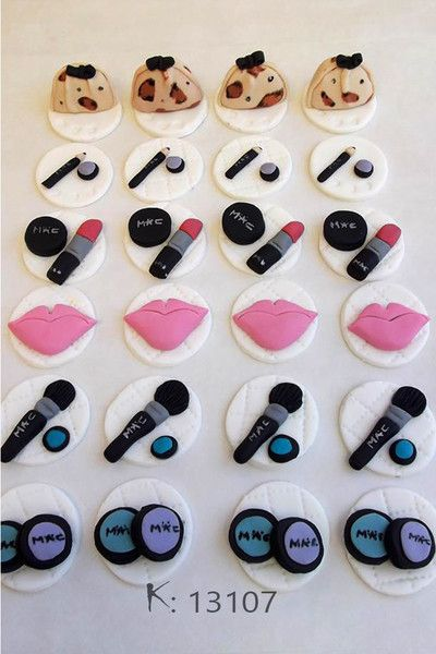 Mac Makeup Cupcake Topper Google Search