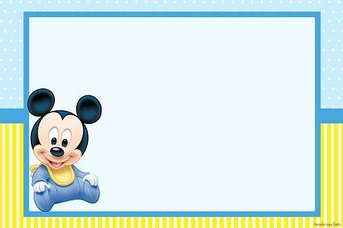 Invitaciones De Mickey Para Editar Gratis Buscar Con