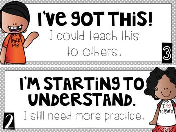 Student SelfAssessment Freebie  Teaching Grade