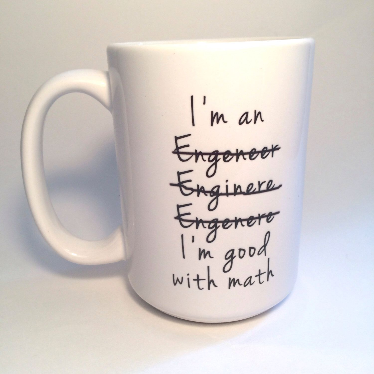 Custom Graduation Gift Engineer Mug Coffee Lover Etsy
