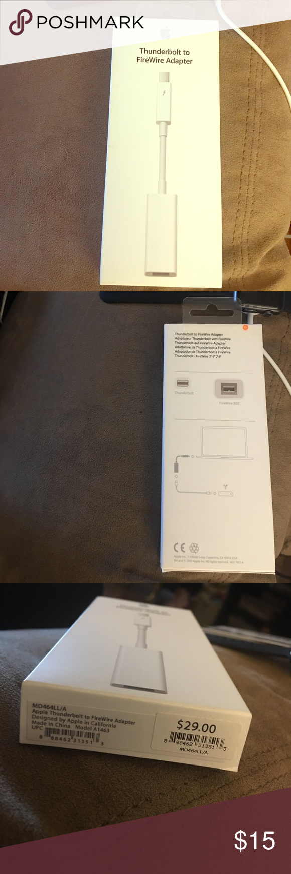 New Apple Thunderbolt to FireWire Adapter Small and compact, it ...