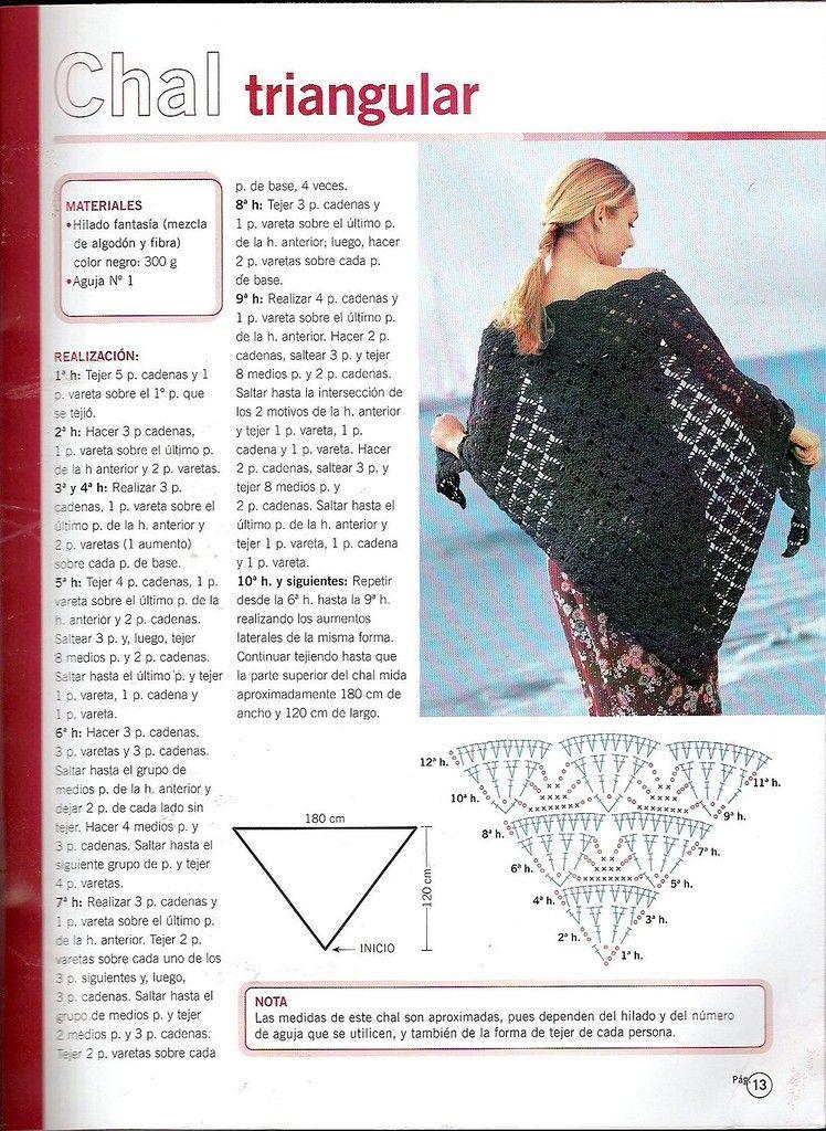Scan0010.JPG | Crochet | Pinterest | Chal, Ponchos y Tejido