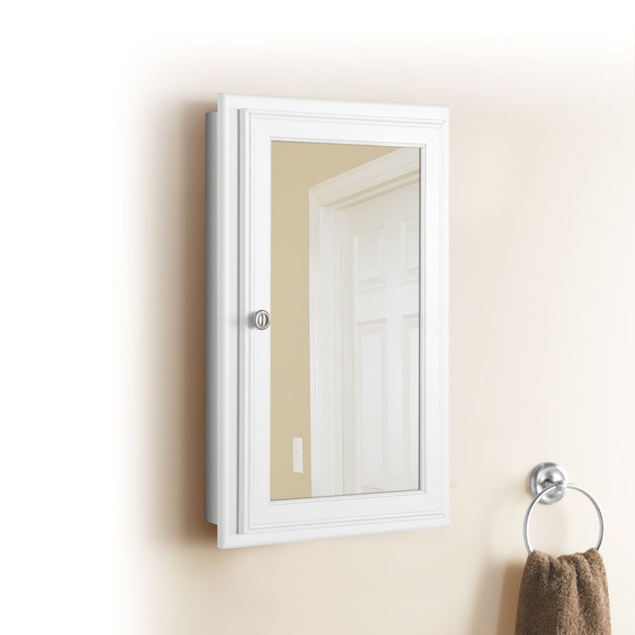 Shop Style Selections 25 75 In H X 15 75 In W White Mdf Recessed
