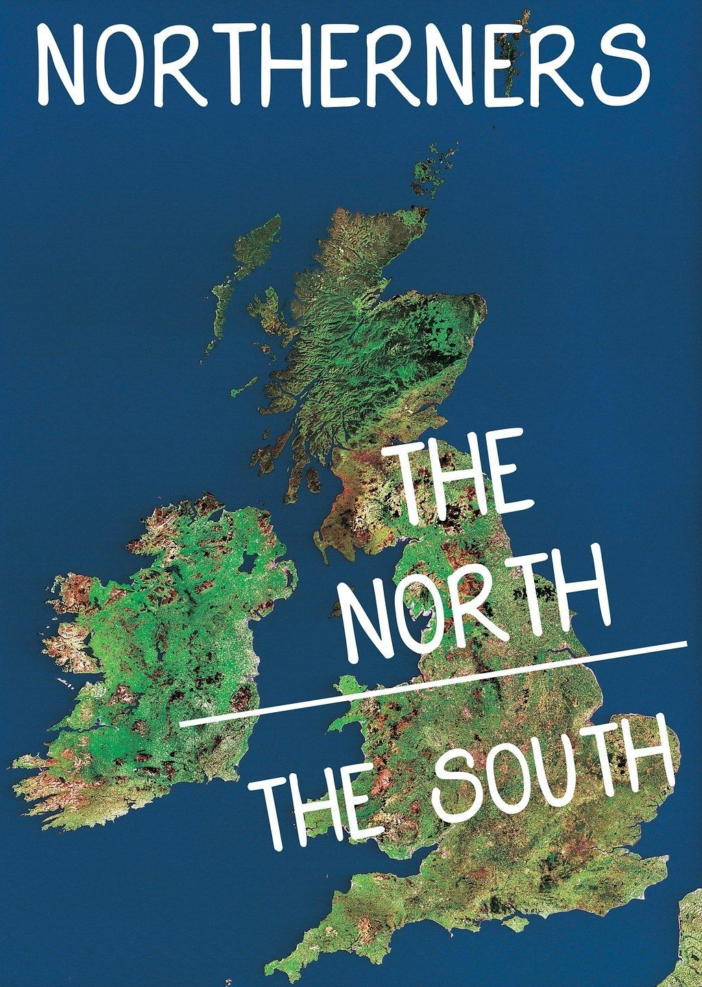 a map showing the northsouth divide according to northerners and southerners