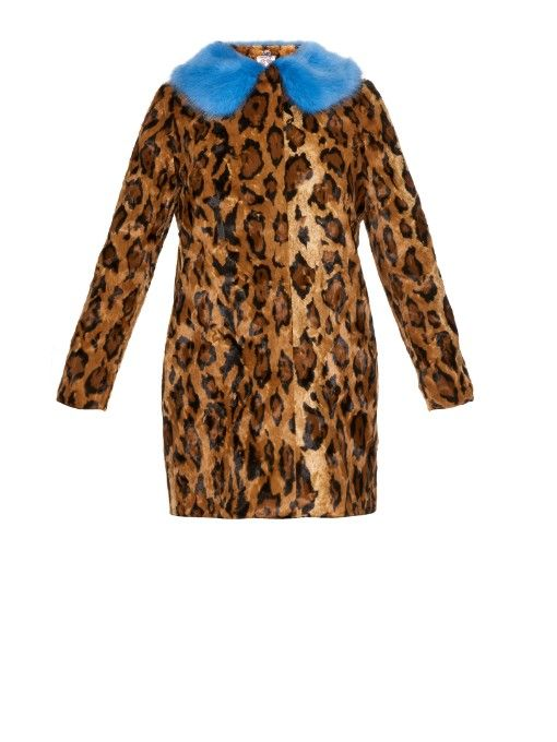 e340c7b5313b Shrimps Papa Puss jaguar-print faux-fur coat | Animalistic | Brown ...