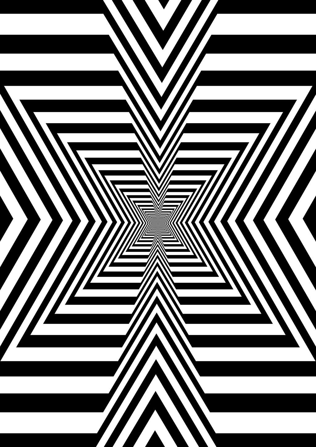Crossing point optical illusion quilts art optical optical illusions trippy gif op